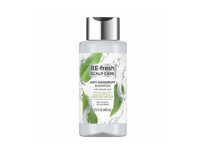 Re-Fresh Scalp Care Anti-Dandruff Shampoo, Eucalyptus + Cooling Relief, 13.5 fl oz/400 mL, Pack Of 2