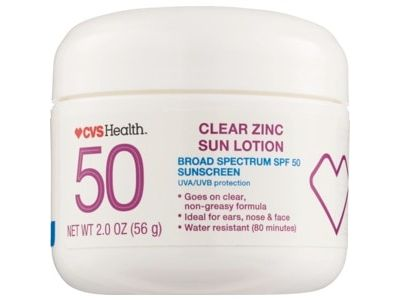 CVS Health Clear Zinc Broad Spectrum Sun Lotion SPF 50