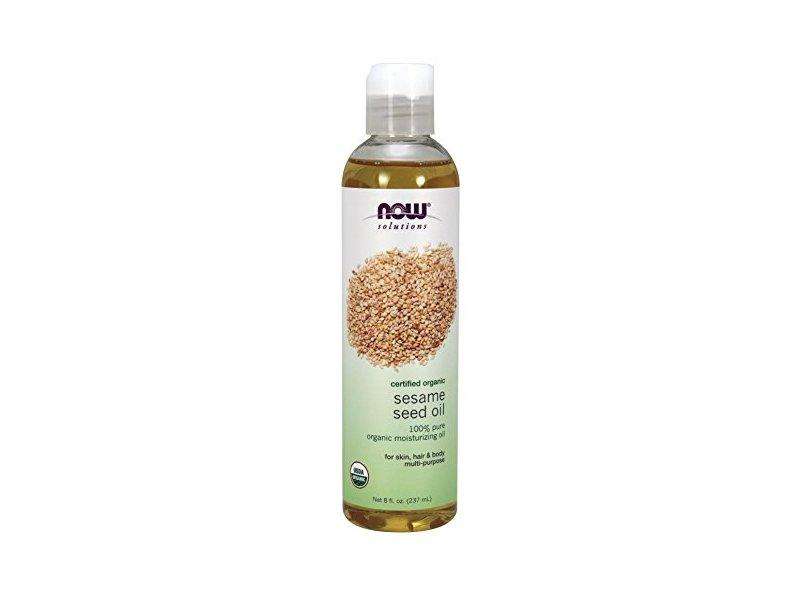 NOW Solutions Organic Sesame Seed Oil, 8 fl oz