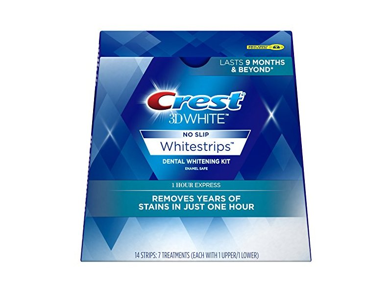 Crest 3D White No Slip Whitestrips Dental Whitening Kit, 7 ct