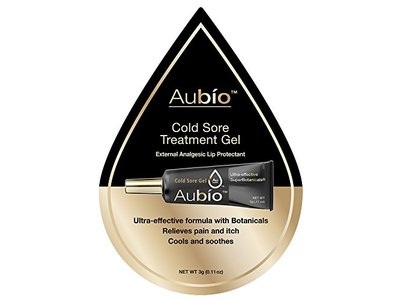 Aubio Cold Sore Treatment Gel, 0.11 oz