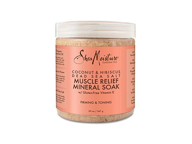 Shea Moisture Coconut & Hibiscus Dead Sea Salt Muscle Relief Mineral Soak, 20 oz