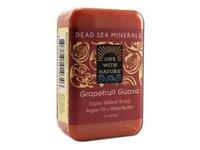 One With Nature Dead Sea Bar Soap, Grapefruit Guava 7 Oz - Image 3