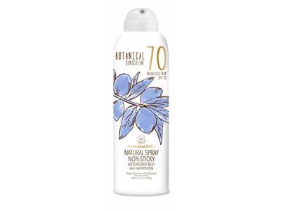 Australian Gold Botanical Sunscreen Natural Spray, Broad Spectrum, Water Resistant, SPF 70, 6 Ounce