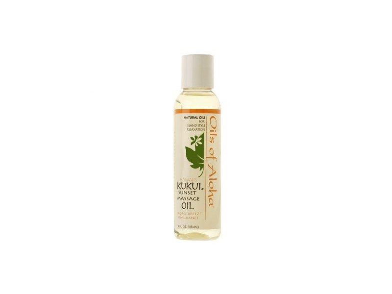 Oils Of Aloha Hawaii's Kukui Sunset Massage Oil, Tropical Breeze, 4 fl oz