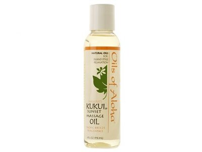 Oils Of Aloha Hawaii's Kukui Sunset Massage Oil, Tropical Breeze, 4 fl oz