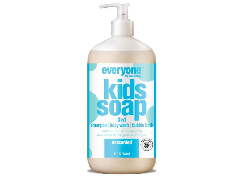 Everyone Kids 3 In 1 Soap, Unscented, 32 fl oz