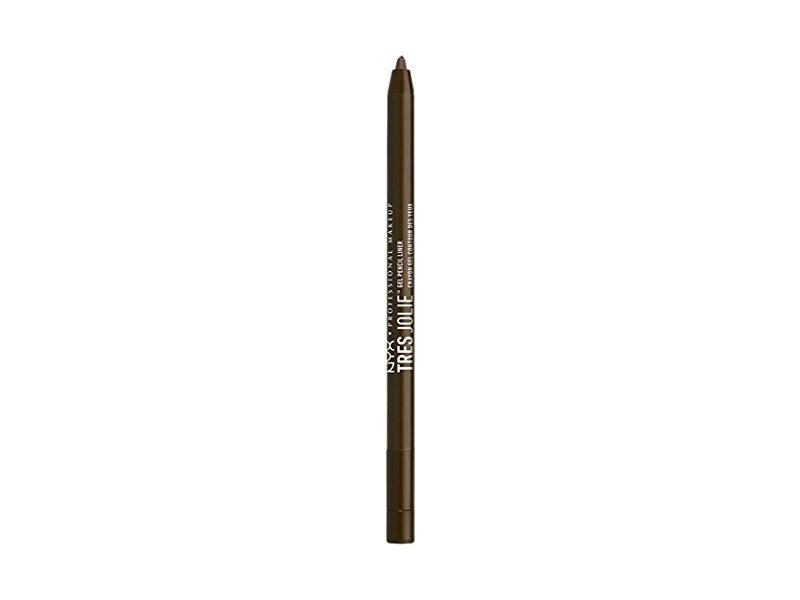 NYX Tres Jolie Gel Pencil Liner, Brown, 0.017 oz