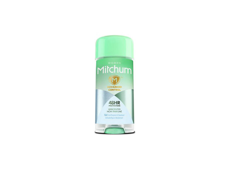 Women Mitchum Advanced Control Gel Anti-Perspirant & Deodorant, Unscented, 3.4 oz