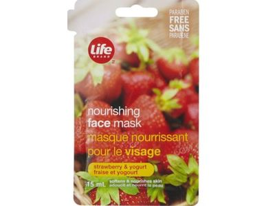 Life Brand Nourishing Face Mask, Strawberry & Yogurt, 15 mL