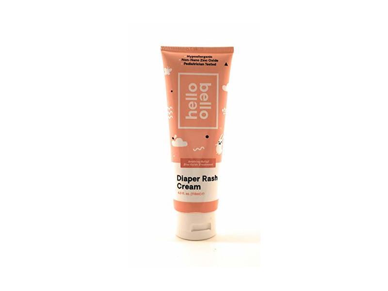 Hello Bello Diaper Rash Cream, Vegan Cruelty-Free Non-Nano Zinc Oxide, 4 fl. oz