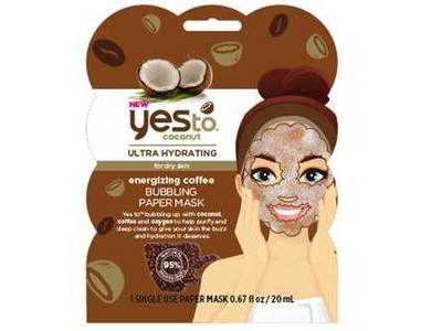 Yes To Coconut Energizing Coffee Bubbling Paper Mask