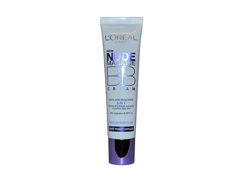L'oréal Paris Nude Magique BB Cream Bare Skin Beautifier, SPF 12 ,Medium Skin Tone, 30ml
