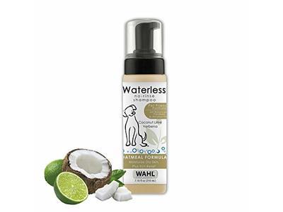 Wahl No-Rinse Waterless Shampoo, Cocunut Lime Verbana, Oatmeal formula, 7.1 fl oz / 210 mL