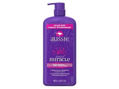 Aussie Total Miracle Shampoo, 30.4 fl oz - Image 1