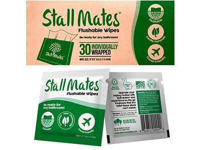 Stall Mates Flushable Wipes, 30 wipes