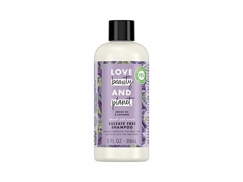 Love Beauty and Planet Argan Oil & Lavender Smooth and Serene Shampoo, 3 fl oz/89 mL