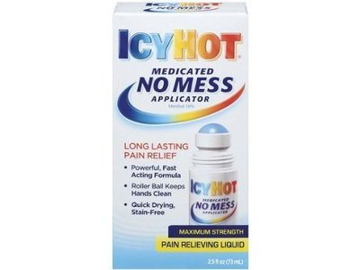 Icyhot Medicated No Mess Applictor Pain Relieving Liquid, 2.5 fl oz/73 mL