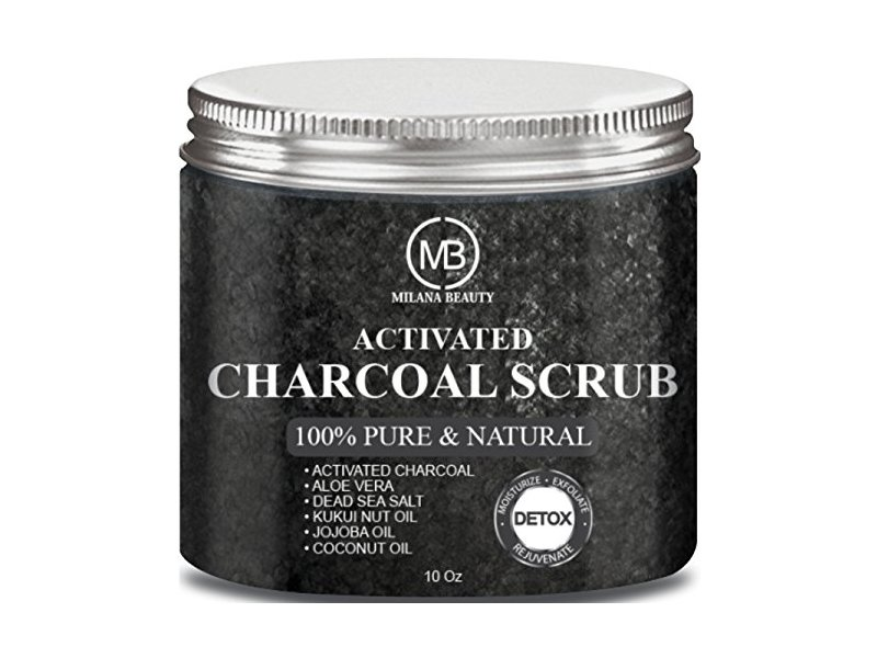 Milana Beauty Activated Charcoal Scrub, 10 oz