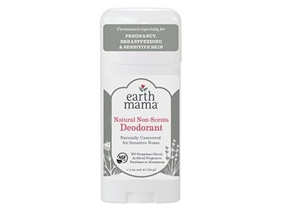 Earth Mama Deodorant for Sensitive Skin, Pregnancy and Breastfeeding Natural Non-Scented, 3-Fluid Ounce