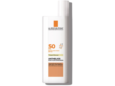 La Roche-Posay Anthelios Light Fluid Sunscreen, Tinted Mineral, SPF 50, 50 ml