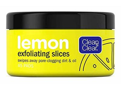 Clean & Clear Lemon Exfoliating Slices 45 Count (2 Pack) - Image 1