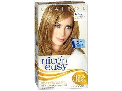 Clairol Nice' n Easy Permanent Hair Color, #8A Medium Ash Blonde, 1 application