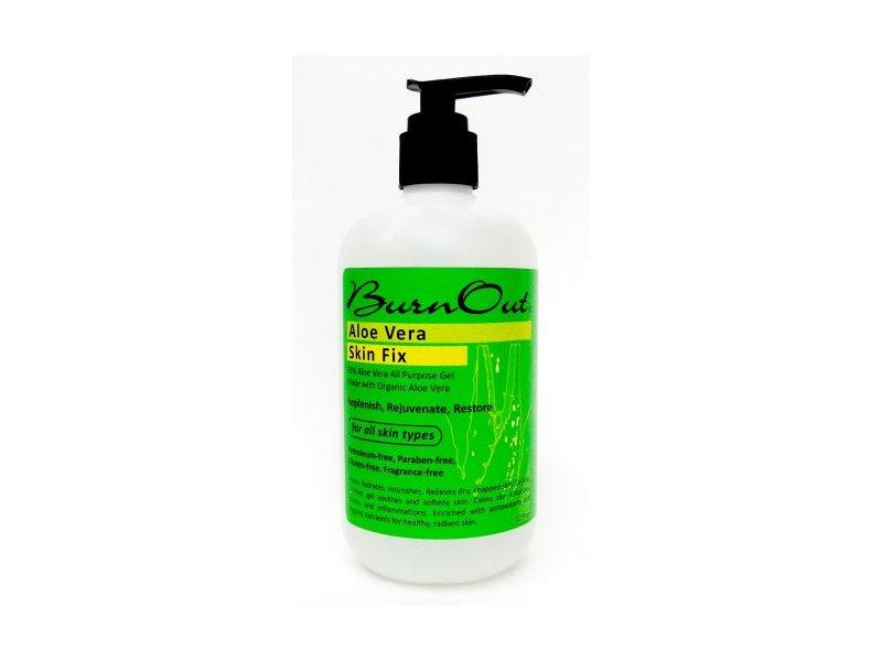 BurnOut Aloe Vera Skin Fix Gel, 12 Ounce