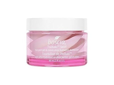 Boscia Tsubaki Swirl Two-Part Gel & Cream Deep Hydration Moisturizer, 2 fl oz