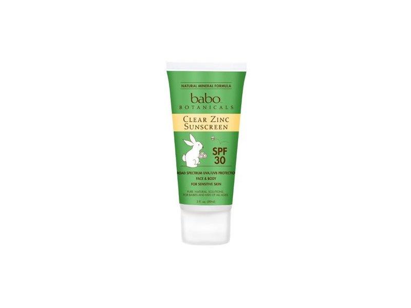 Babo Botanicals Sunscreen, Clear Zinc, Spf30, Summer Scent, 3 Fluid Oz