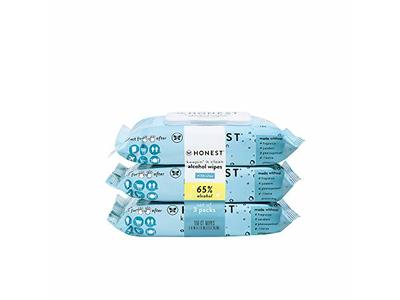 The Honest Company Sanitizing Alcohol Wipes, Unscented, 150 Count, Pack Of 3