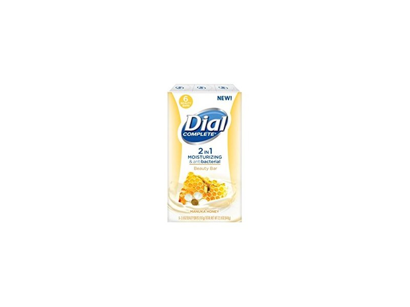 Dial Manuka Honey 2-in-1 Beauty Bar Soap, 6 Count