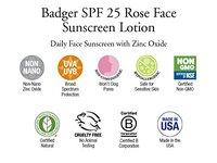 Badger Damascus Rose Face Sunscreen Lotion, SPF25, 1.6 oz - Image 7