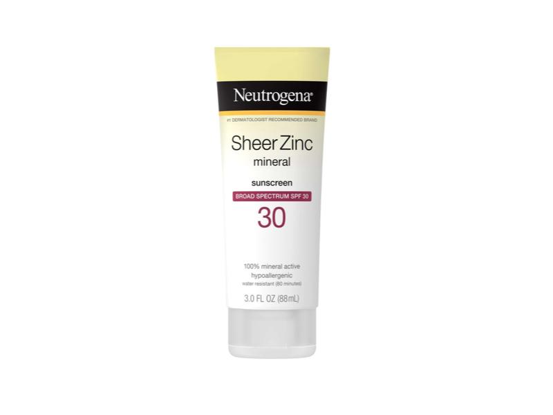 Neutrogena Sheer Zinc Dry-Touch Sunscreen SPF 30