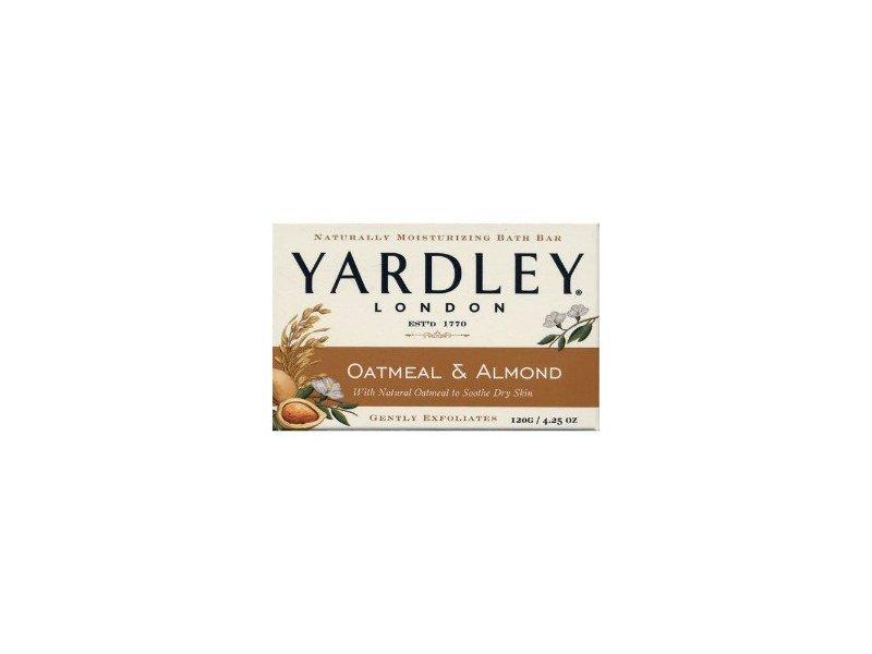 Yardley of London Oatmeal & Almond Bar Soap Yardley, 4.25 oz