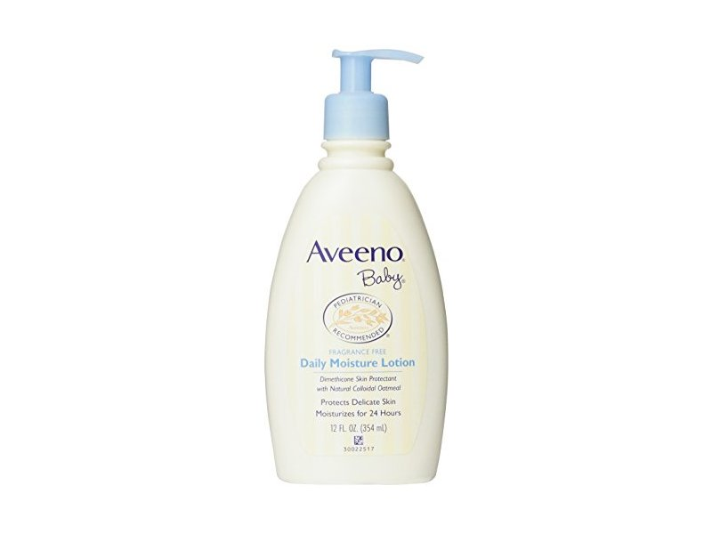 Aveeno Baby Daily Moisture Lotion, Fragrance Free, 12 Ounce (Pack of 6)