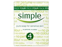 Simple Pure Soap for Sensitive Skin, 125 g (Pack of 4) - Image 2