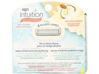 Schick Intuition Pure Nourishment Moisturizing Razor Blade Refills for Women with Coconut Milk and Almond Oil, 6 Count - Image 6
