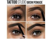 Maybelline New York Tattoo Studio Brow Pomade Medium Brown 0.106 Ounce - Image 17