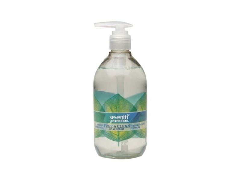 Seventh Generation Natural Hand Wash, Free & Clean Unscented, 12 fl oz (2 Pack)