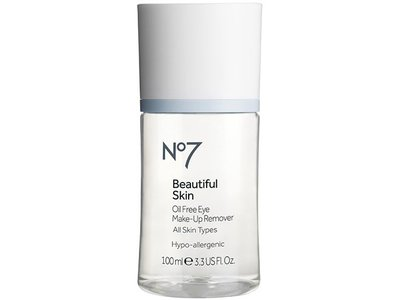 Boots No7 Beautiful Skin Oil Free Eye Make-up Remover, 3.38 oz