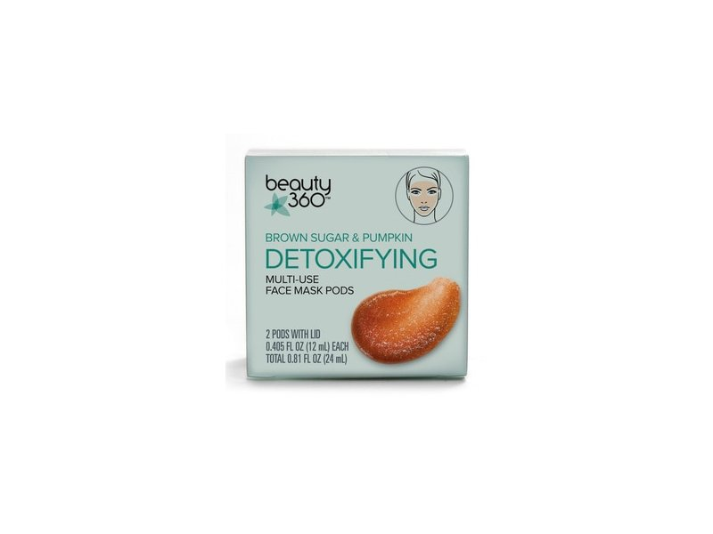 Beauty 360 Brown Sugar & Pumpkin Detoxifying Multi-Use Face Mask Pods