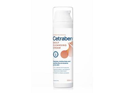 Cetraben 2-In-1 Daily Cleansing Cream, Unscented, 200 mL