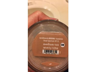 bareMinerals Original Broad Spectrum SPF 15 Foundation, Medium Tan, 0.28 Ounce - Image 5