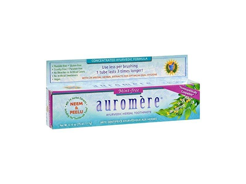 Auromere Mint Free Ayurvedic Herbal Toothpaste, 4.16 oz
