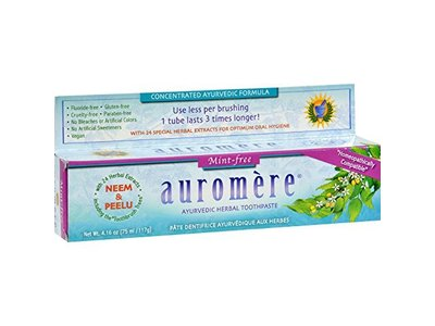 Auromere Mint Free Ayurvedic Herbal Toothpaste, 4.16 oz