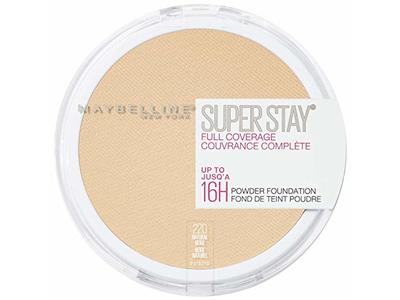 Maybelline New York Super Stay Full Coverage Powder Foundation Makeup Matte Finish, Natural Beige, 0.18 Ounce - Image 1