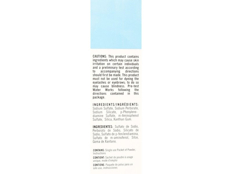 Waterworks Water Activated Permanent Powder Hair Color 21 Blue