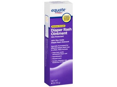 Equate Maximum Strength Diaper Rash Ointment, 4 oz