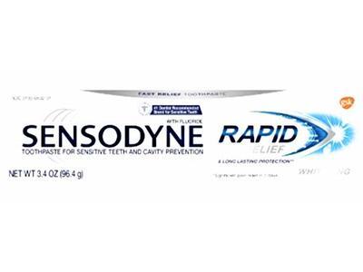 Sensodyne Rapid Relief Whitening Toothpaste 3.4 oz